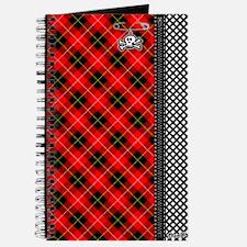 Red Punk Plaid Journal