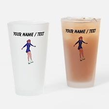 Custom Figure Skater Drinking Glass
