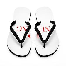 I love Nursing-Bau red 500 Flip Flops
