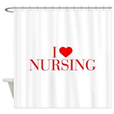 I love Nursing-Bau red 500 Shower Curtain