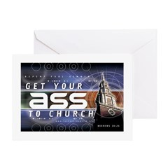 Get Your Ass to Church Greeting Card