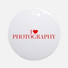 I love Photography-Bau red 500 Ornament (Round)