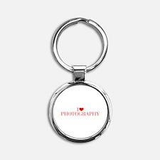 I love Photography-Bau red 500 Keychains