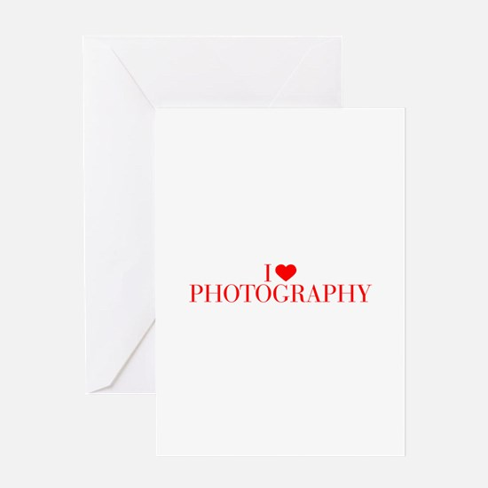 I love Photography-Bau red 500 Greeting Cards