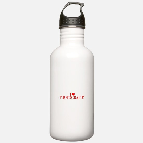 I love Photography-Bau red 500 Water Bottle