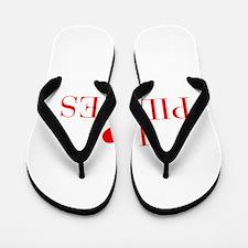 I love Pilates-Bau red 500 Flip Flops