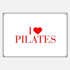 I love Pilates-Bau red 500 Banner