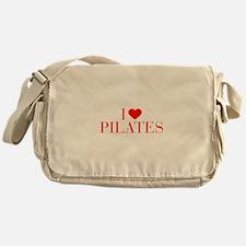 I love Pilates-Bau red 500 Messenger Bag