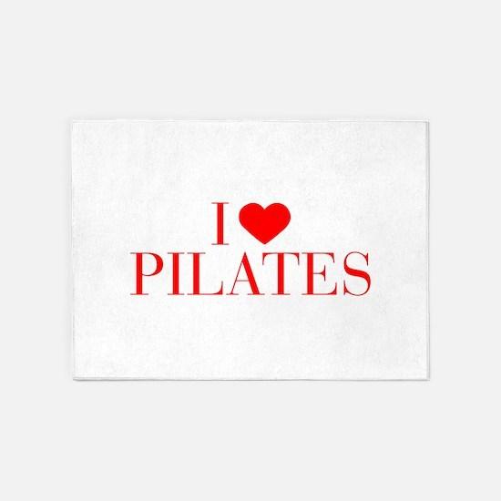 I love Pilates-Bau red 500 5'x7'Area Rug