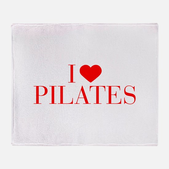 I love Pilates-Bau red 500 Throw Blanket