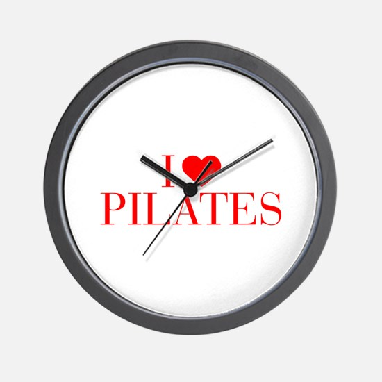 I love Pilates-Bau red 500 Wall Clock