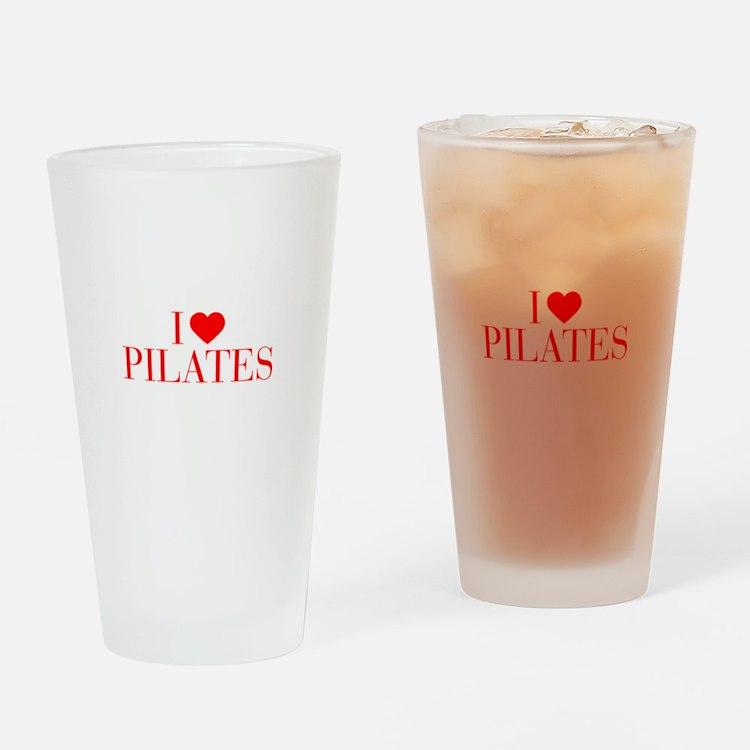 I love Pilates-Bau red 500 Drinking Glass