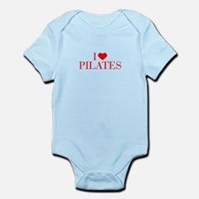 I love Pilates-Bau red 500 Body Suit