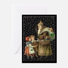 Village Santa Christmas Cards (Pk of 20)
