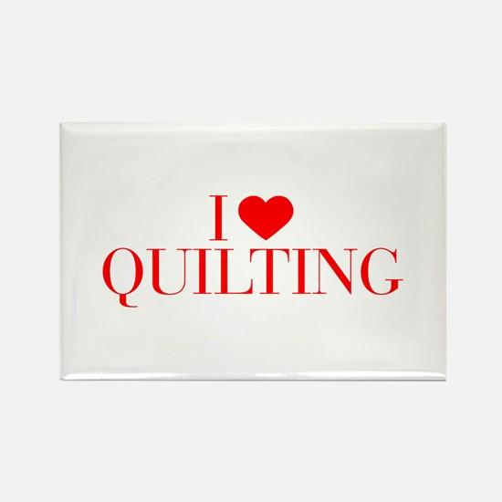 I love Quilting-Bau red 500 Magnets