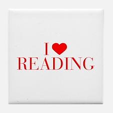 I love Reading-Bau red 500 Tile Coaster