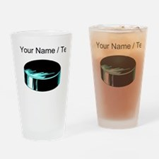 Custom Hockey Puck Drinking Glass