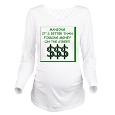 mahjong Long Sleeve Maternity T-Shirt