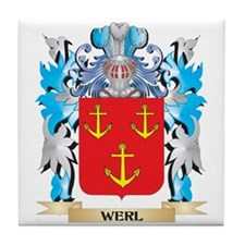 Werl Coat of Arms - Family Crest Tile Coaster