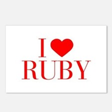I love RUBY-Bau red 500 Postcards (Package of 8)