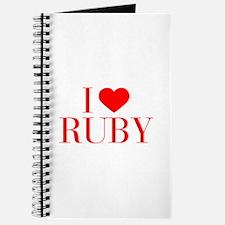 I love RUBY-Bau red 500 Journal