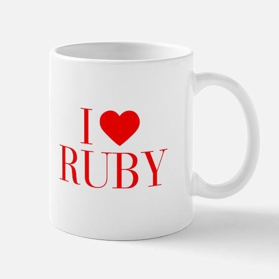 I love RUBY-Bau red 500 Mugs