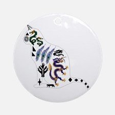 CAT Round Ornament