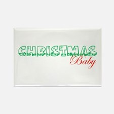 Christmas Baby Rectangle Magnet