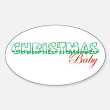 Christmas Baby Oval Decal
