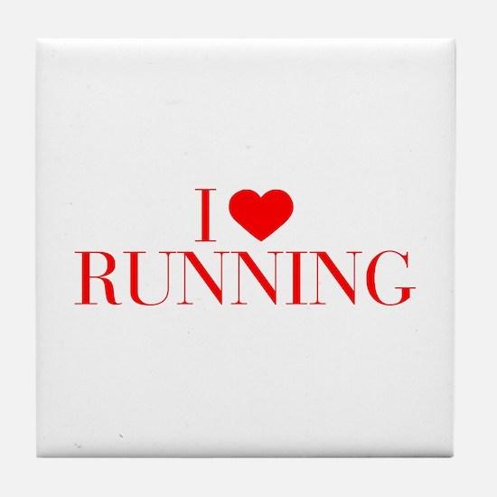 I love Running-Bau red 500 Tile Coaster