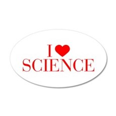 I love Science-Bau red 500 Wall Decal