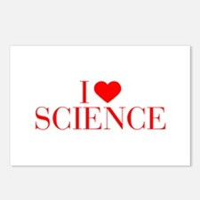 I love Science-Bau red 500 Postcards (Package of 8