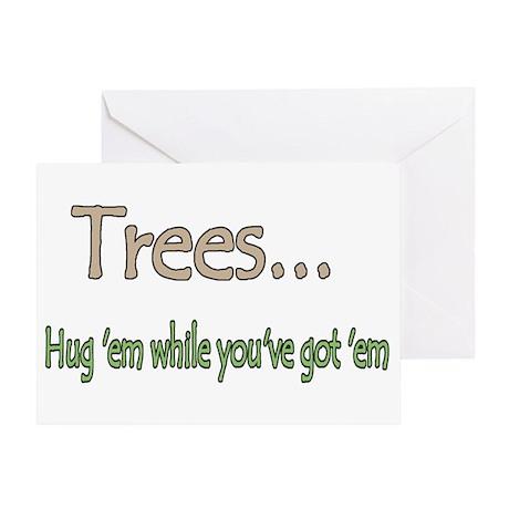Tree Hugging Greeting Card