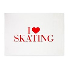 I love Skating-Bau red 500 5'x7'Area Rug