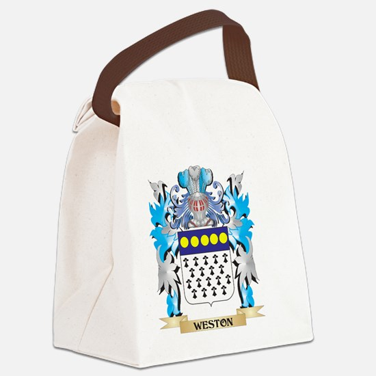 Weston Coat of Arms - Family Cres Canvas Lunch Bag