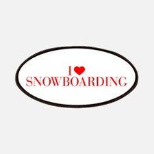 I love Snowboarding-Bau red 500 Patch