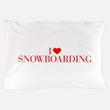 I love Snowboarding-Bau red 500 Pillow Case