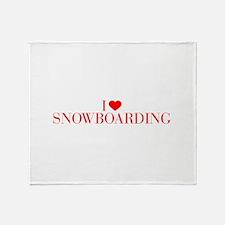 I love Snowboarding-Bau red 500 Throw Blanket