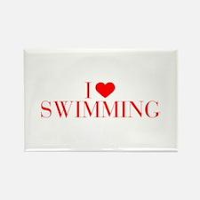 I love Swimming-Bau red 500 Magnets