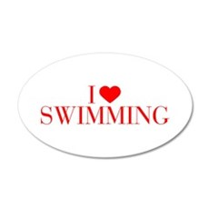 I love Swimming-Bau red 500 Wall Decal