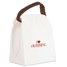 I love Swimming-Bau red 500 Canvas Lunch Bag
