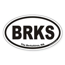 The Berkshires BRKS Euro Oval Decal