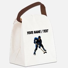 Custom Hockey Player Canvas Lunch Bag