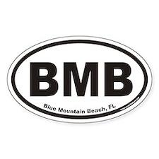 Blue Mountain Beach BMB Euro Oval Bumper Stickers