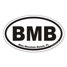 Blue Mountain Beach BMB Euro Oval Decal