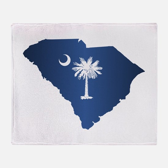 South Carolina (geo) Throw Blanket