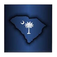 South Carolina (geo) Tile Coaster