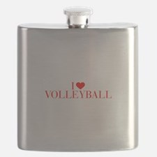 I love Volleyball-Bau red 500 Flask