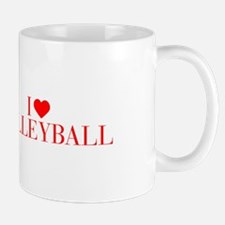 I love Volleyball-Bau red 500 Mugs
