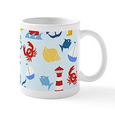 Nautical marine pattern Mugs